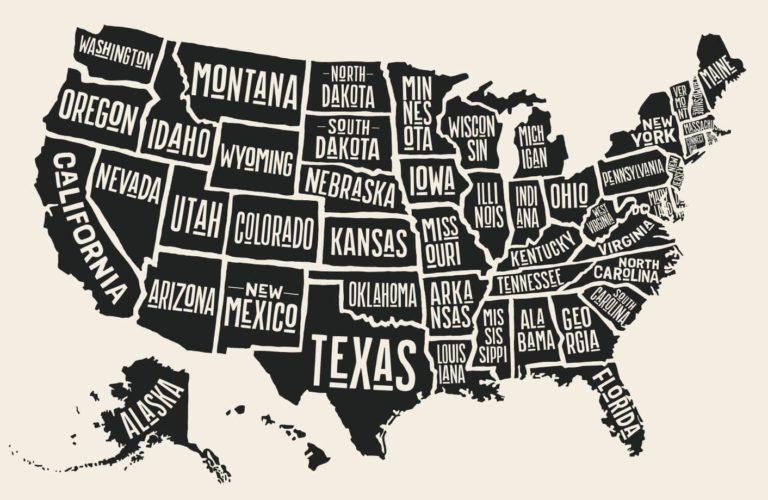 アメリカ各州で調査